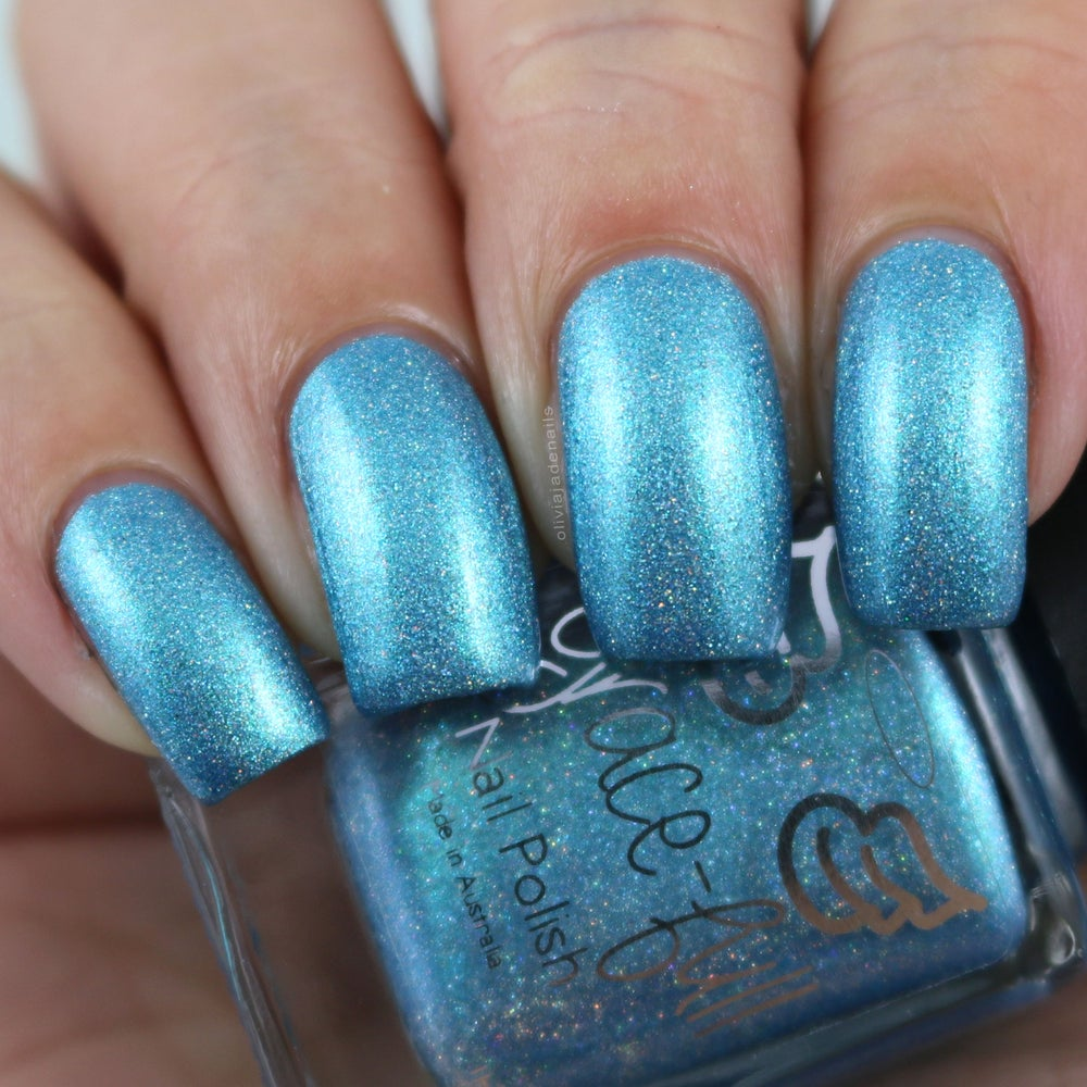 Image Of Peg S Ocean A Turquoise Blue With Silver Holo Glitter