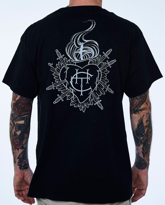 Image of College Hill Tattoo T-Shirt (black)