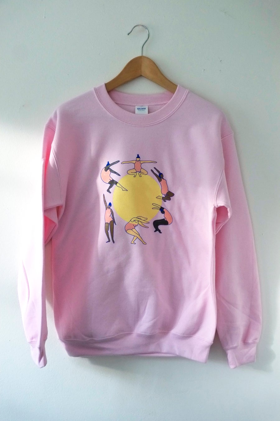 Image of Powerful Body Sweatshirt-Pink