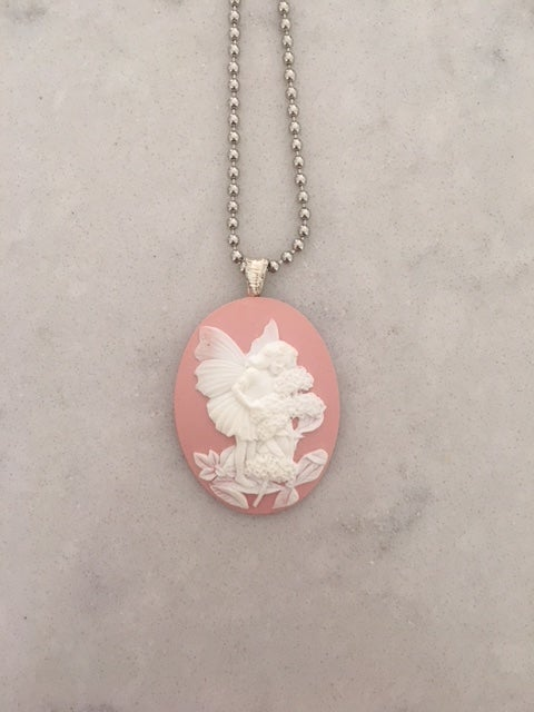 Image of Garden Fairy Pink Pendant Necklace