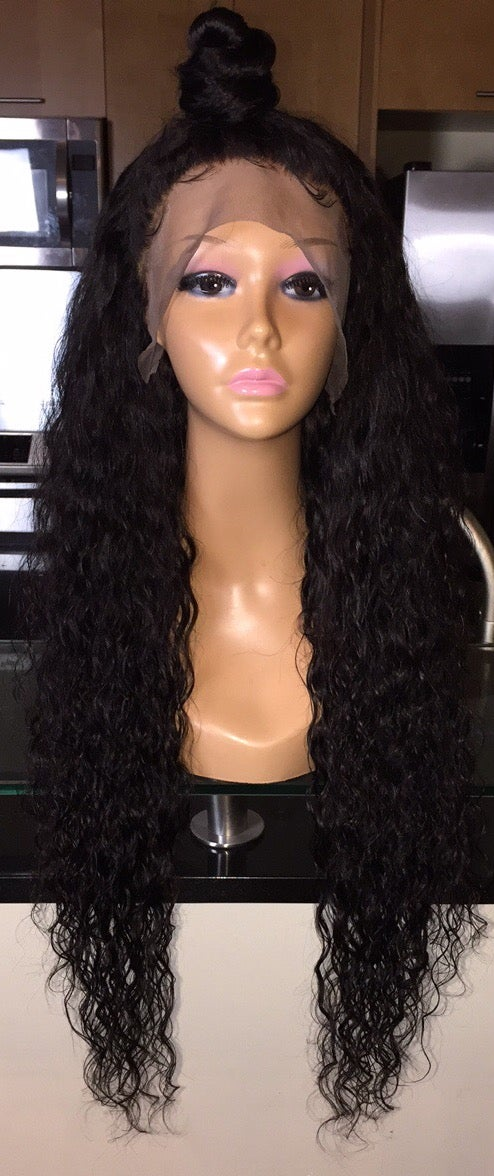 "Image of Cambodian Natural Wave 28"" Custom Frontal Wig!"