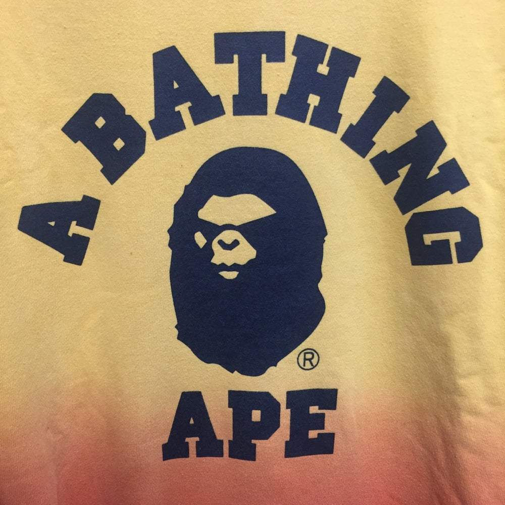 "Image of Bape ""Mad Ape Head"" College Gradient Sweatshirt"