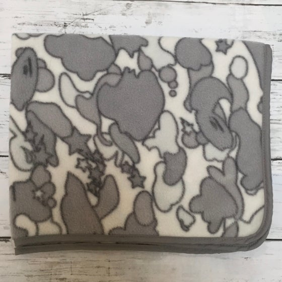Image of Bape Rare Psyche Camo Grey Mini Blanket