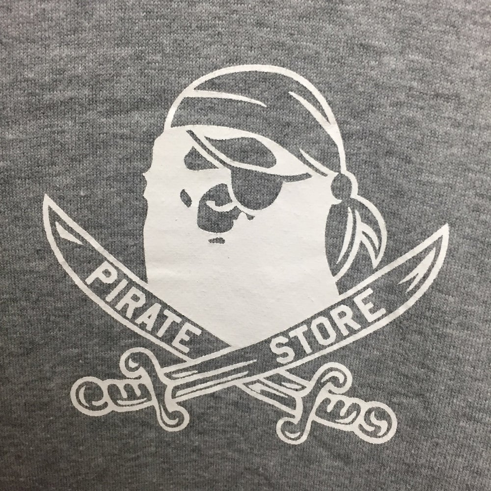 Image of Bape Pirate Store Japan Exclusive Hoodie Grey
