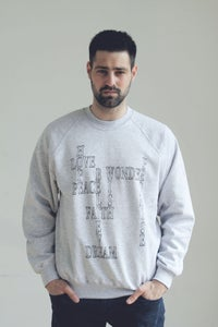 Image of Words Connect Grey Sweater