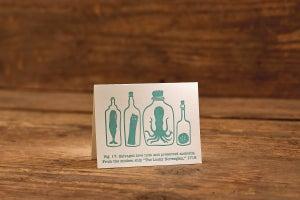 "Image of Note in a Bottle Letterpress Card (A2: 5.5 x 4.25"")"