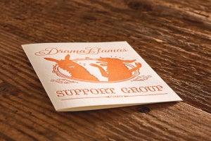 "Image of Drama Llamas Support Group Letterpress Card (A2: 4.25 x 5.5"")"