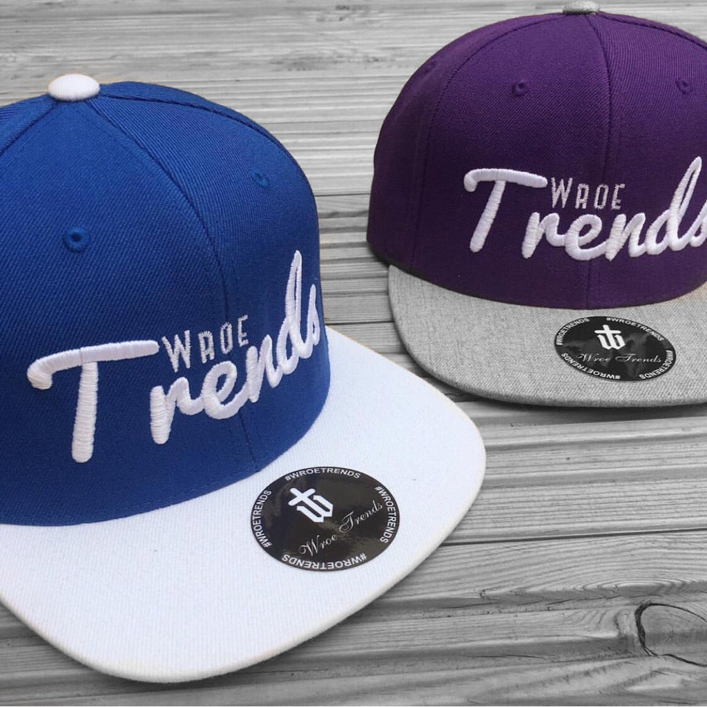 Image of SNAPBACK TRENDS • PURPLE & ROYAL