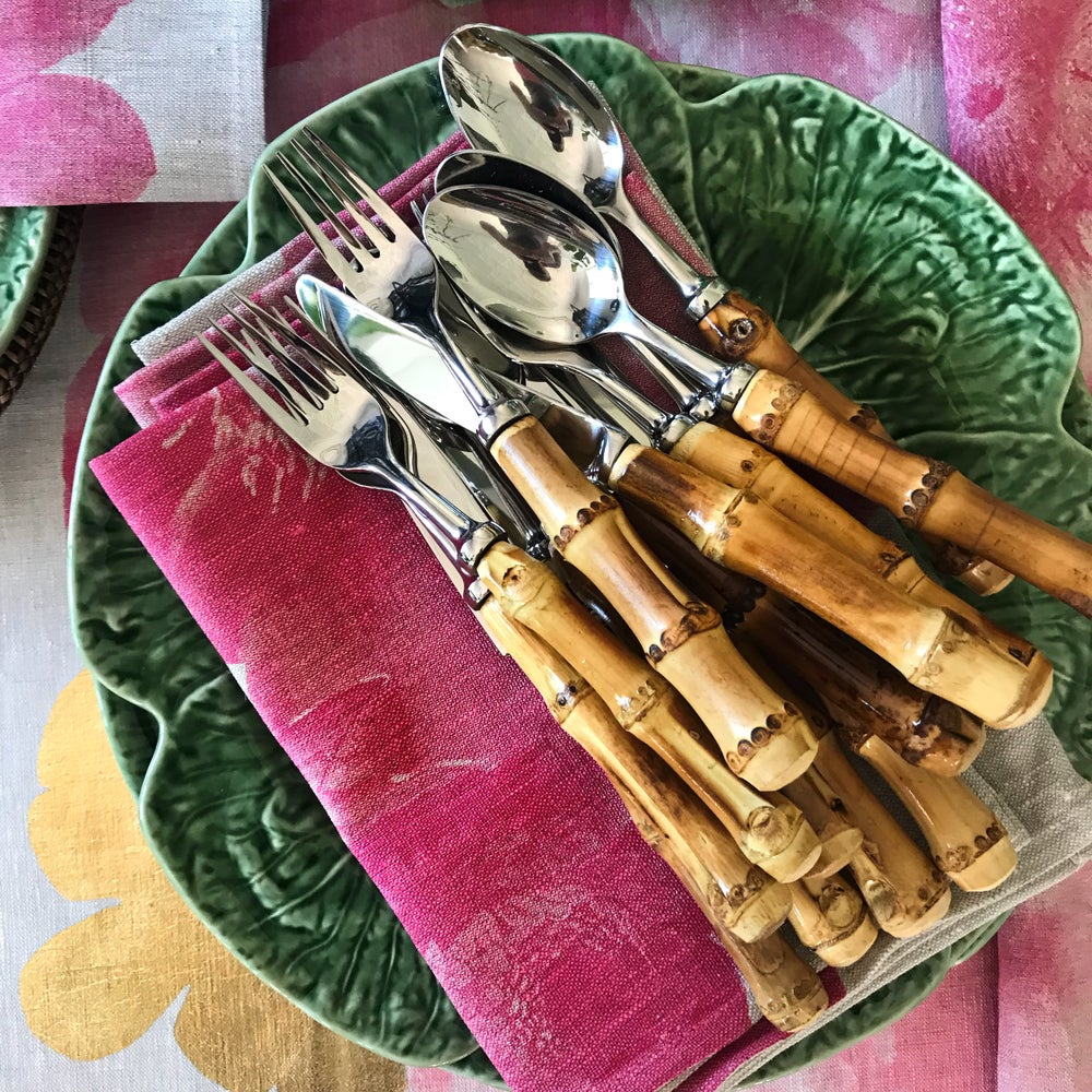 Image of Bamboo Handled Cutlery Set