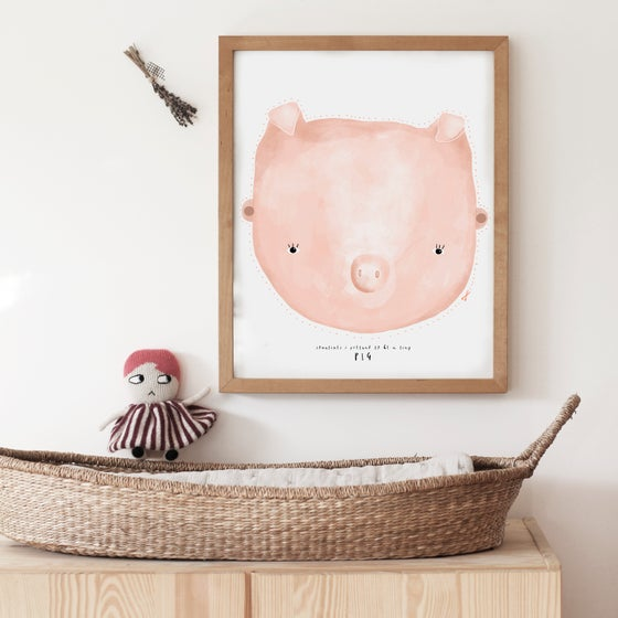 Image of TINY PIGLET ILLUSTRATION