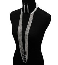 Image of WATERFALL DROOP NECKLACE SET