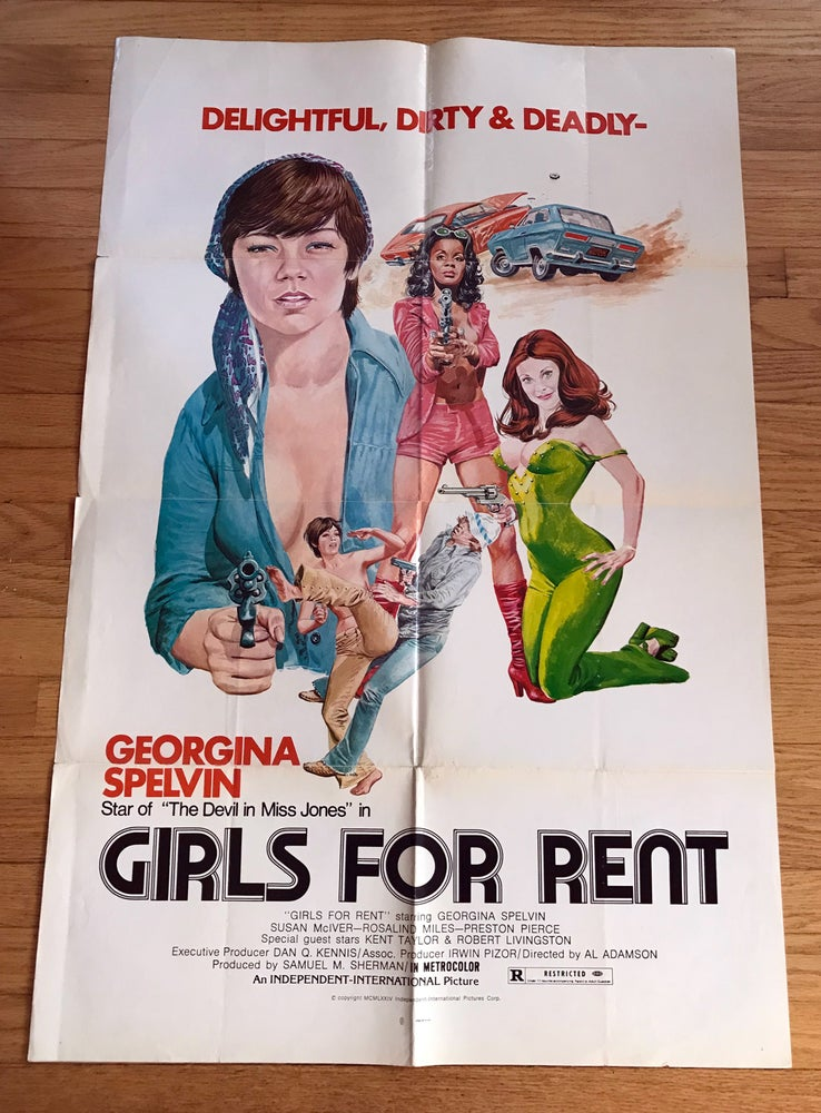 Image of 1974 GIRLS FOR RENT Original U.S. One Sheet Movie Poster