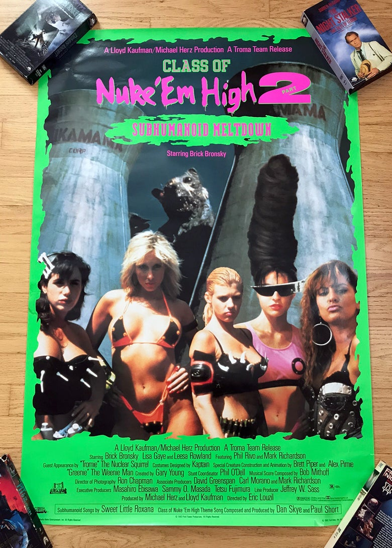 Image of 1991 CLASS OF NUKE EM HIGH 2 Troma Video Promo Poster