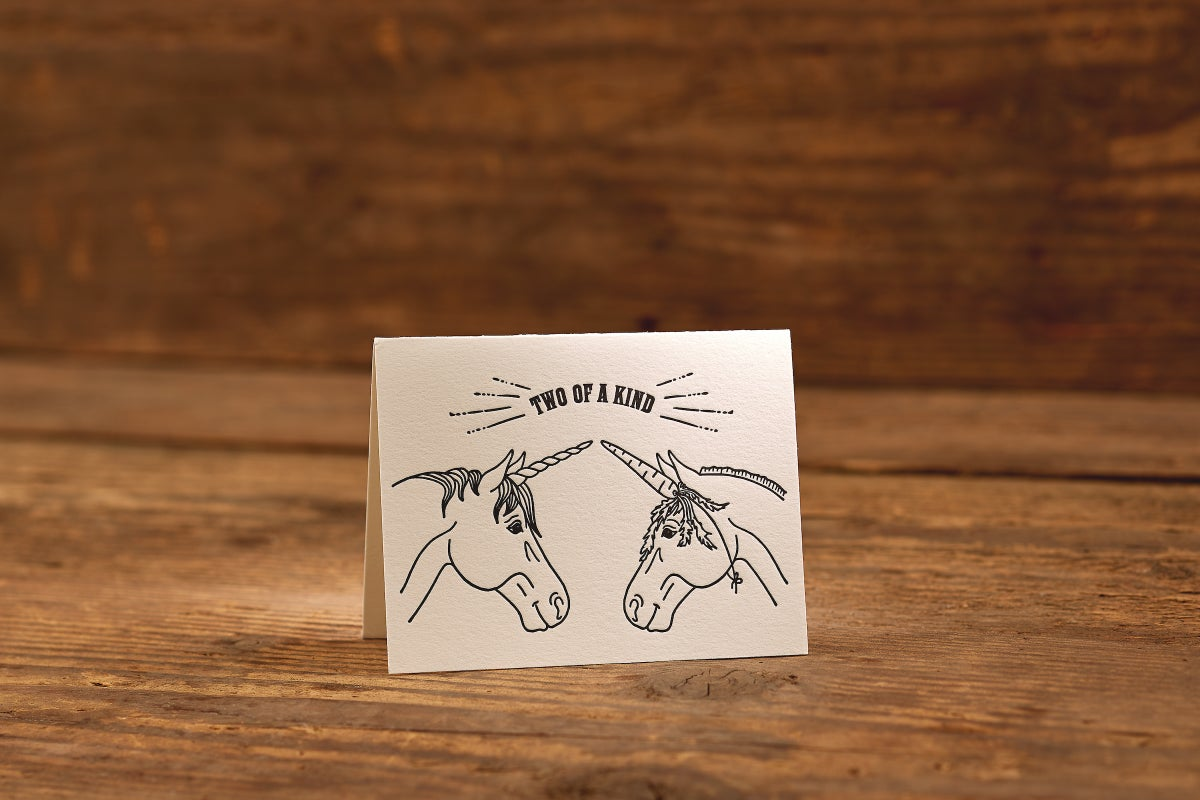"""Image of Two of a Kind Letterpress Card (A2: 5.5 x 4.25"""")"""