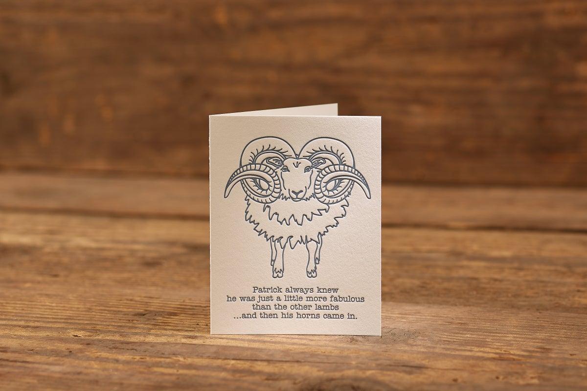 "Image of Fabulous Letterpress Card (A2: 5.5 x 4.25"")"