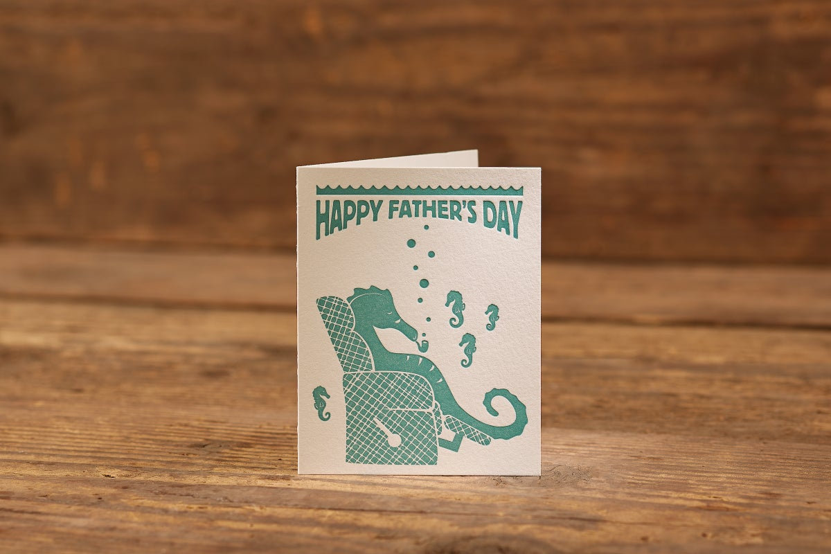 "Image of Father's Day Letterpress Card (A2: 5.5 x 4.25"")"