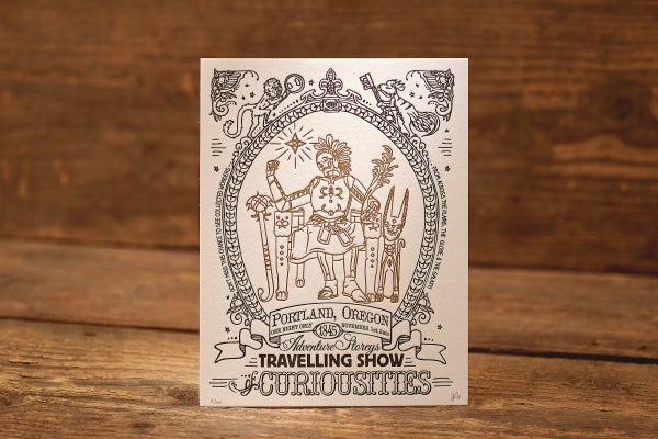 """Image of Ancient Treasure - Limited Edition Letterpress Print (8.5 x 11"""")"""