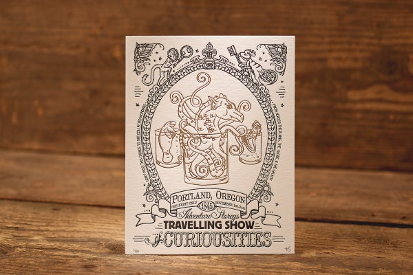 """Image of Sea Creatures - Limited Edition Letterpress Print (8.5 x 11"""")"""