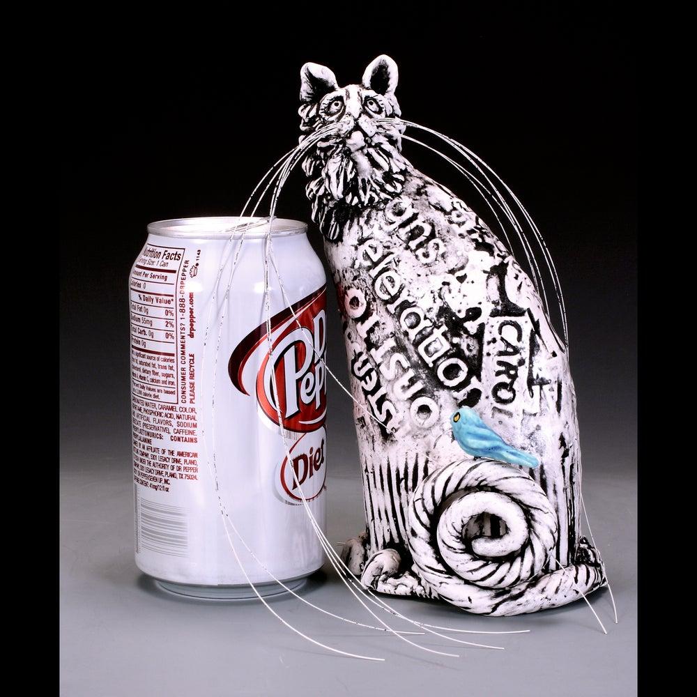 Image of Ceramic Cat Sculpture - Homeless Hanna