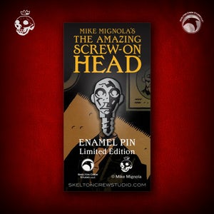 Image of Hellboy/B.P.R.D.: Limited Edition The Amazing Screw-On Head enamel pin!