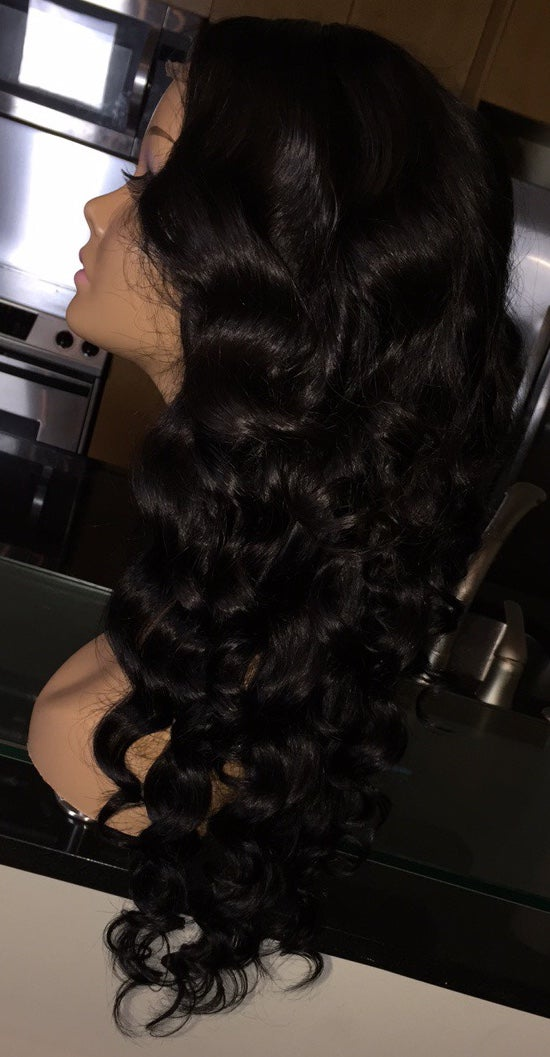 """Image of Cambodian Natural Wave 20"""" Custom Lace Closure Wig!"""