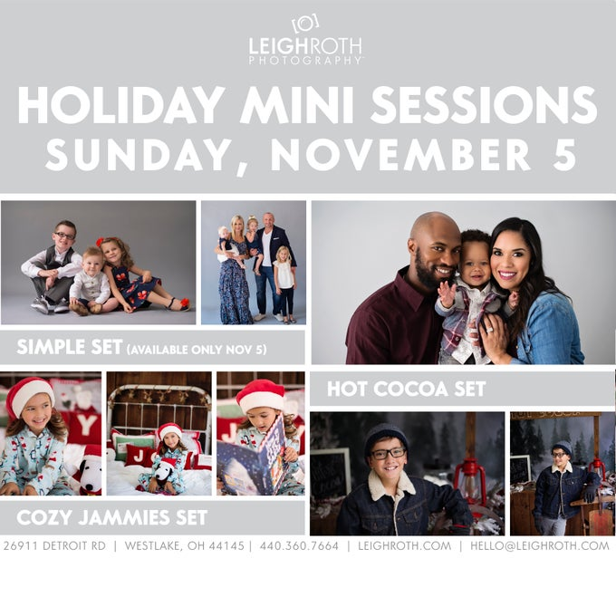 Image of 2017 Holiday Mini Sessions - NOVEMBER 5