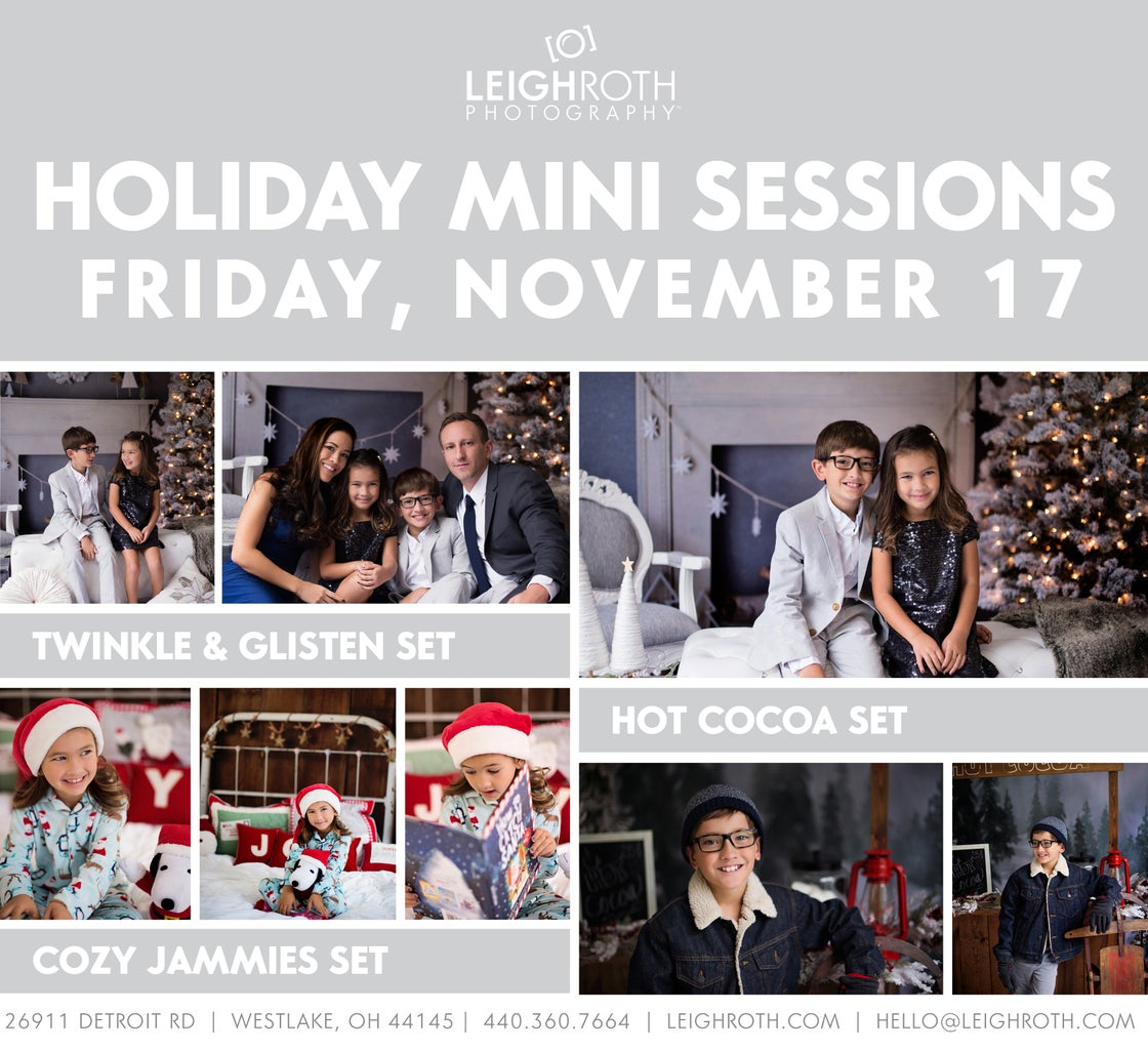 Image of 2017 Holiday Mini Sessions - NOVEMBER 17
