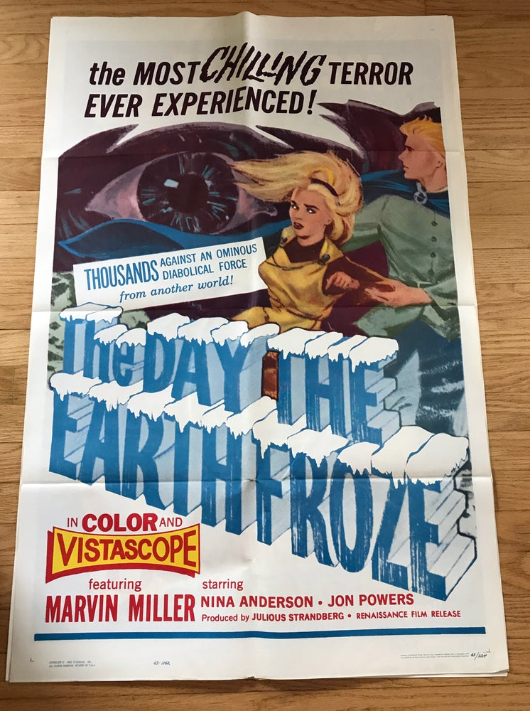 Image of 1959 THE DAY THE EARTH FROZE Original U.S. One Sheet Movie Poster