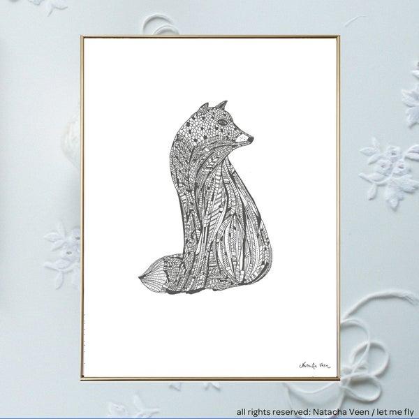Image of Snow fox_A3