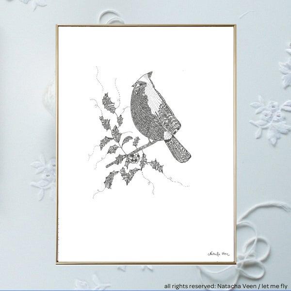 Image of Winter bird_A3