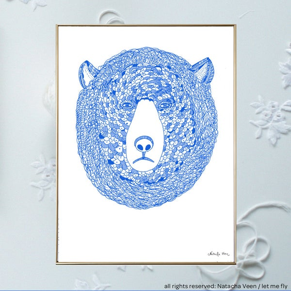 Image of Blue bear_A3
