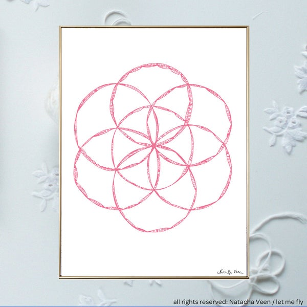 Image of Pink *graine de vie*_18x24 cm