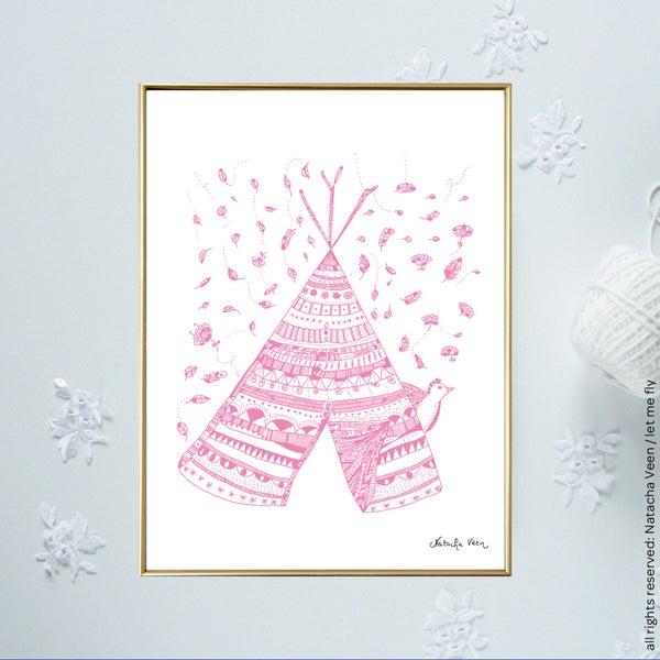 Image of Pink *Tipi*_18x24cm