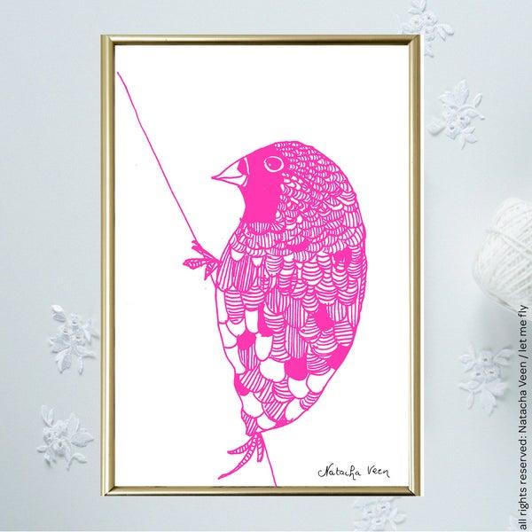 Image of Pink*little bird*_A6