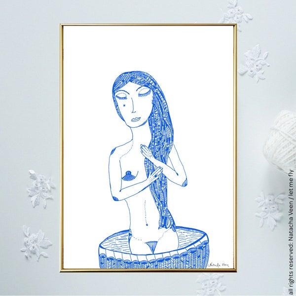 Image of Blue *Woman & Bath*_A4