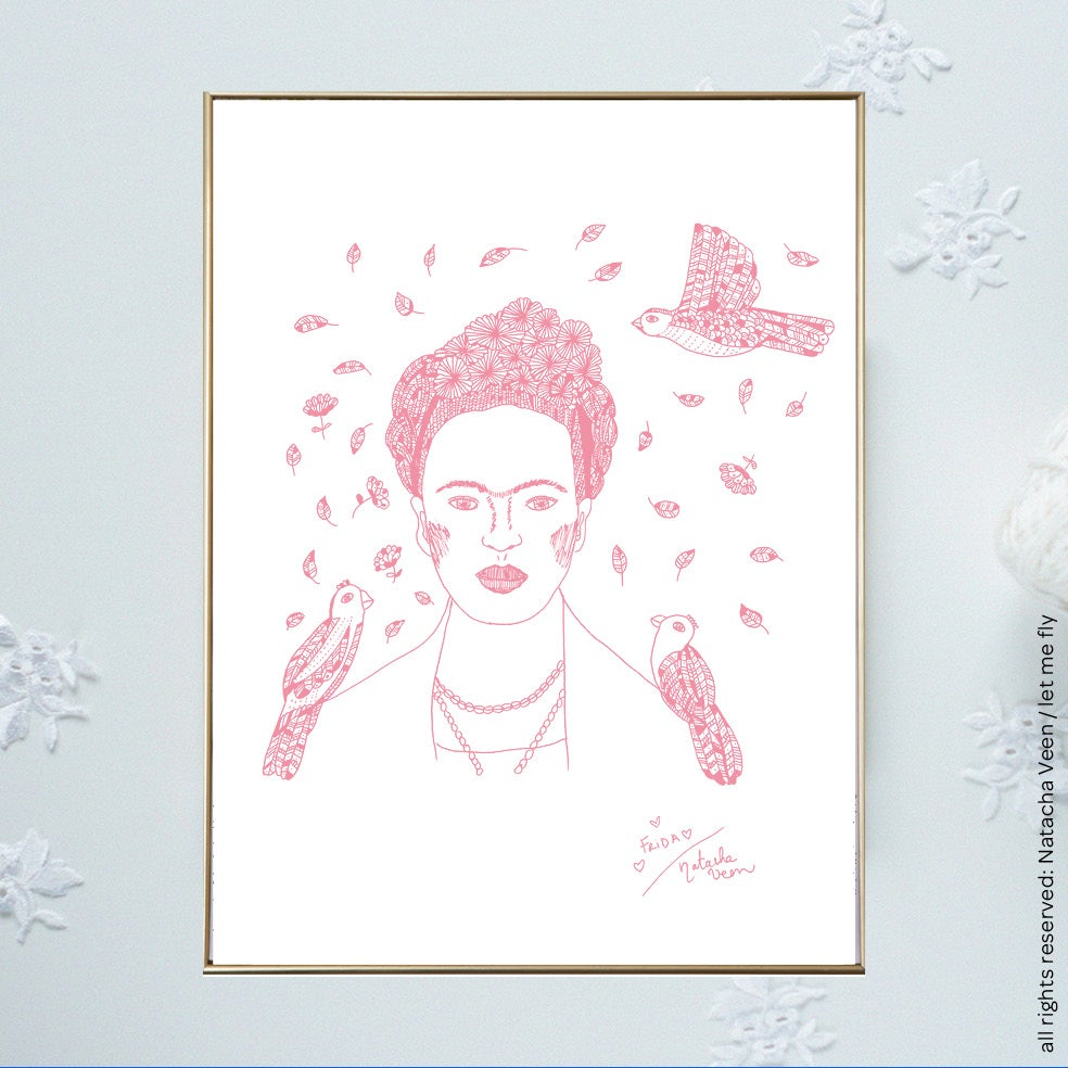 Image of Pink *Frida*_18x24 cm