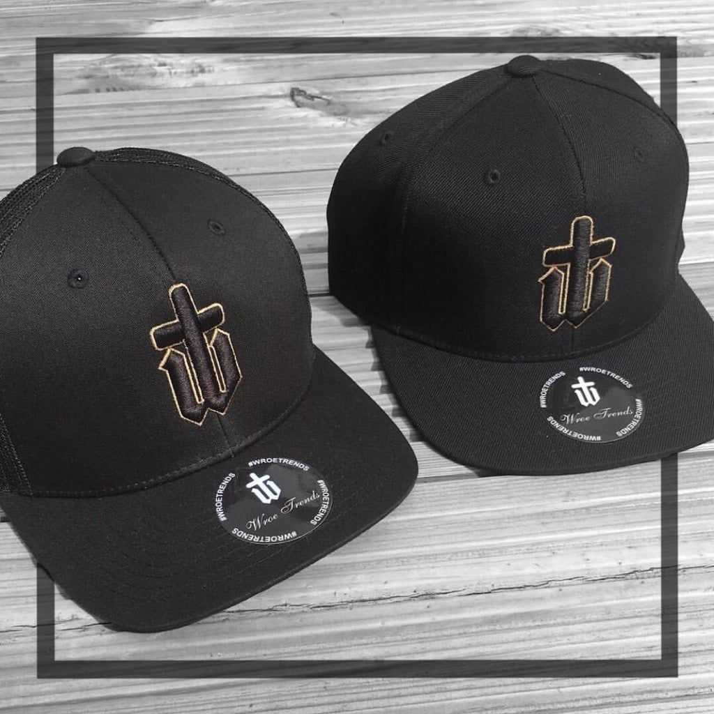 Image of ORIGINAL LOGO/SNAPBACK/TRUCKER/BASEBALL • BLACK & GOLD