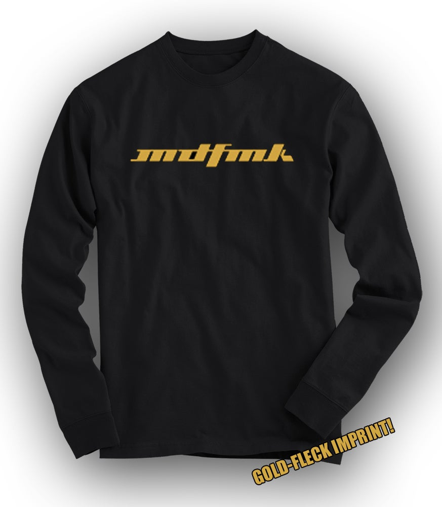 Image of MDFMK Gold-fleck TOUR Long-Sleeved Tee