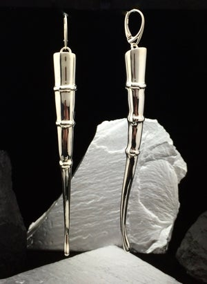 Image of Silver Tendril Earrings, straight