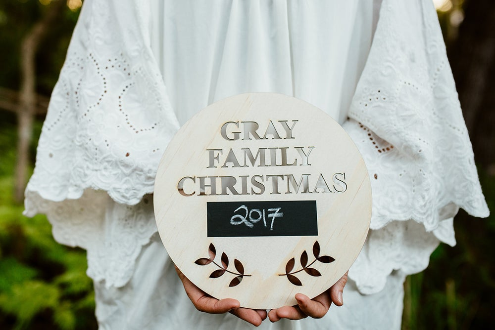 Image of FAMILY CHRISTMAS PLAQUE | RAW WOOD