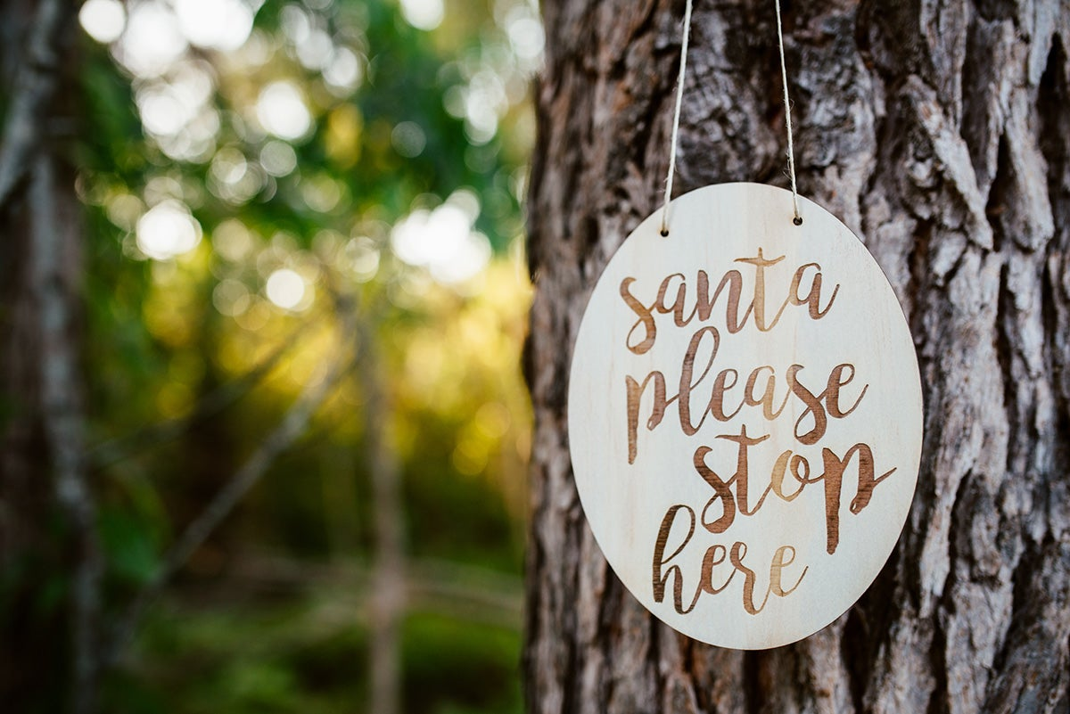 Image of SCRIPT SANTA PLAQUE | RAW ROOD