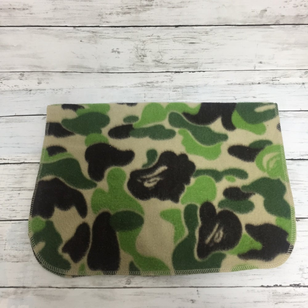 Image of Bape Abc Green Camo Mini Blanket