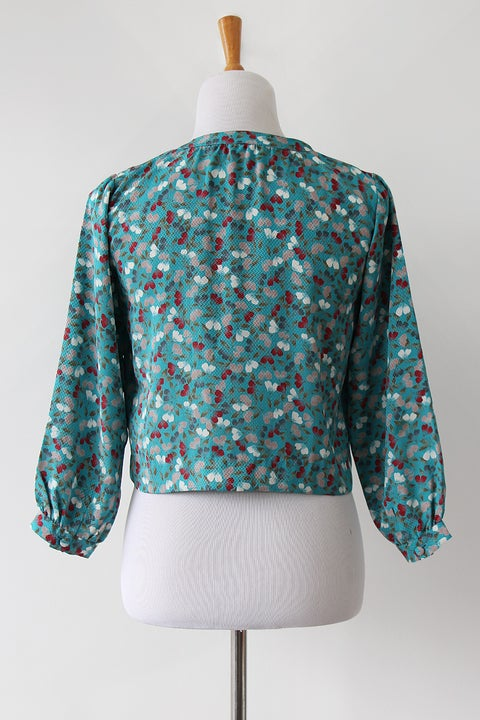 Image of SOLD Sakura Petals Textured Blouse