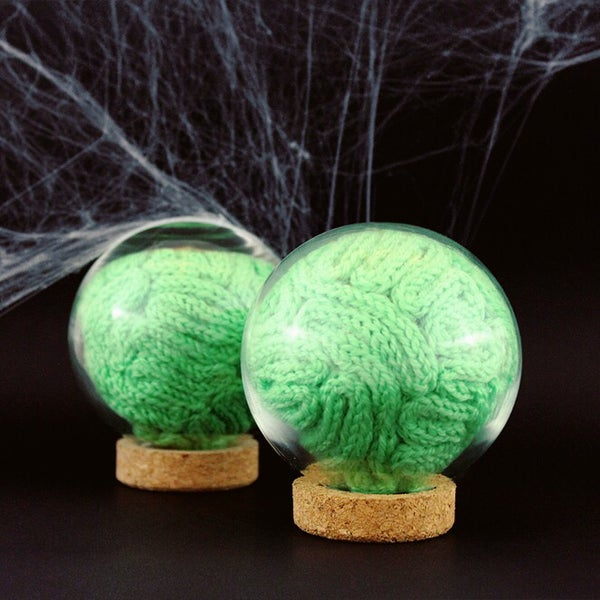 Image of Zombie green matter in a glass ball - Halloween special edition