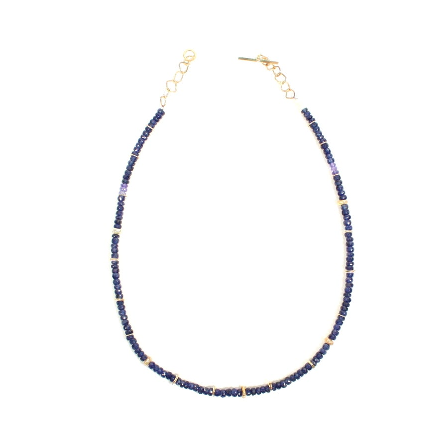 Image of Indian summer beaded Necklace Blue Sapphire