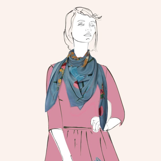 Image of Lola Scarf Seafoam- a collaboration with Hokum