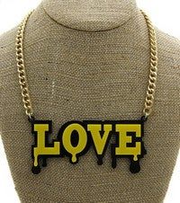 Image of WORD PLATE NECKLACE
