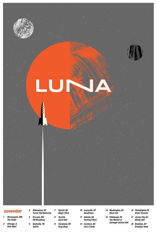 Image of Luna 2017 Silkscreen Tour Poster