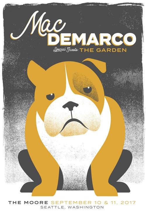 Image of Mac DeMarco Silkscreen Oversized Poster - Seattle - New!