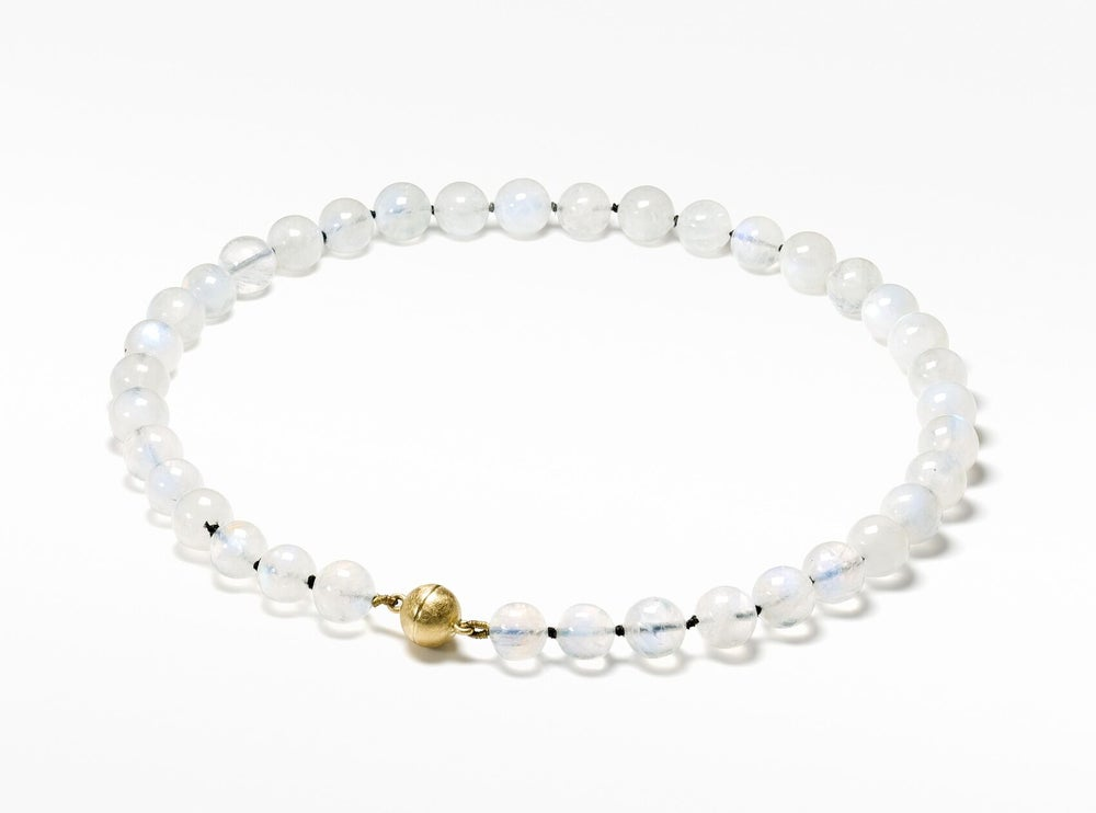 Image of Pure Line rainbow moonstone necklace